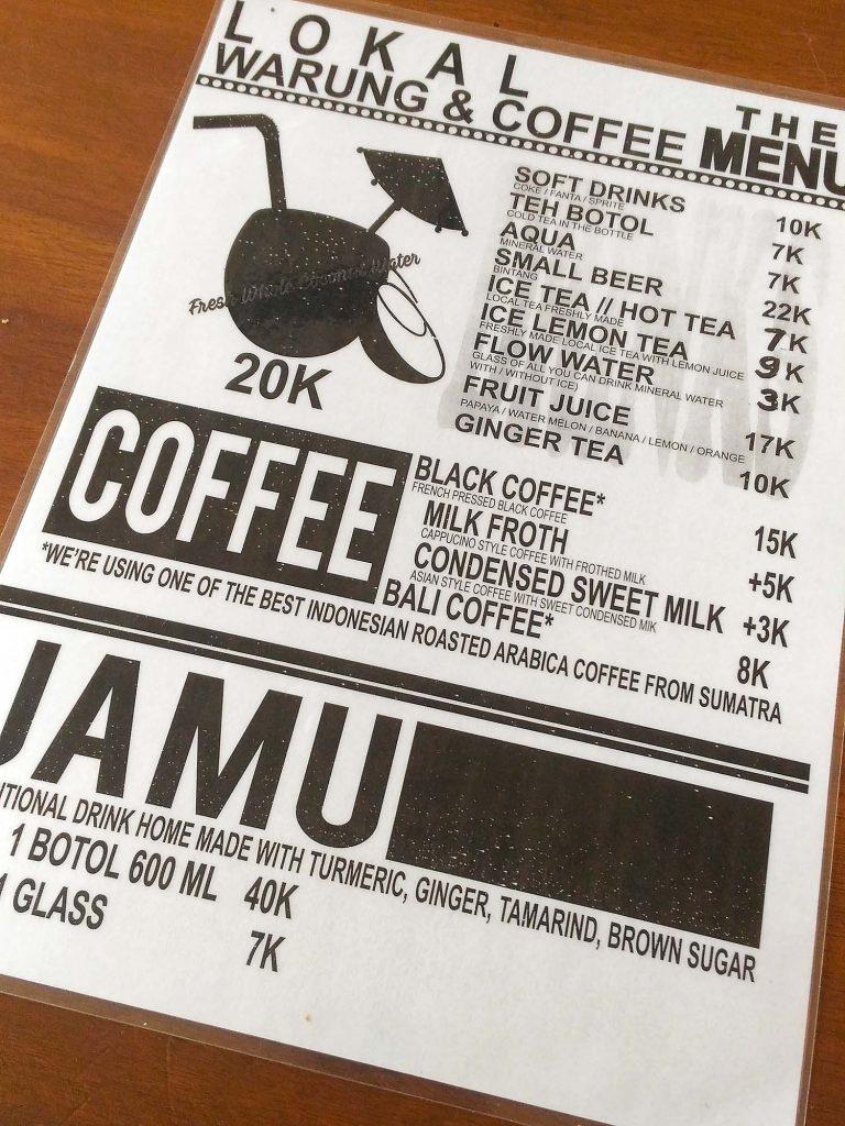ローカル・ワルン&コーヒー