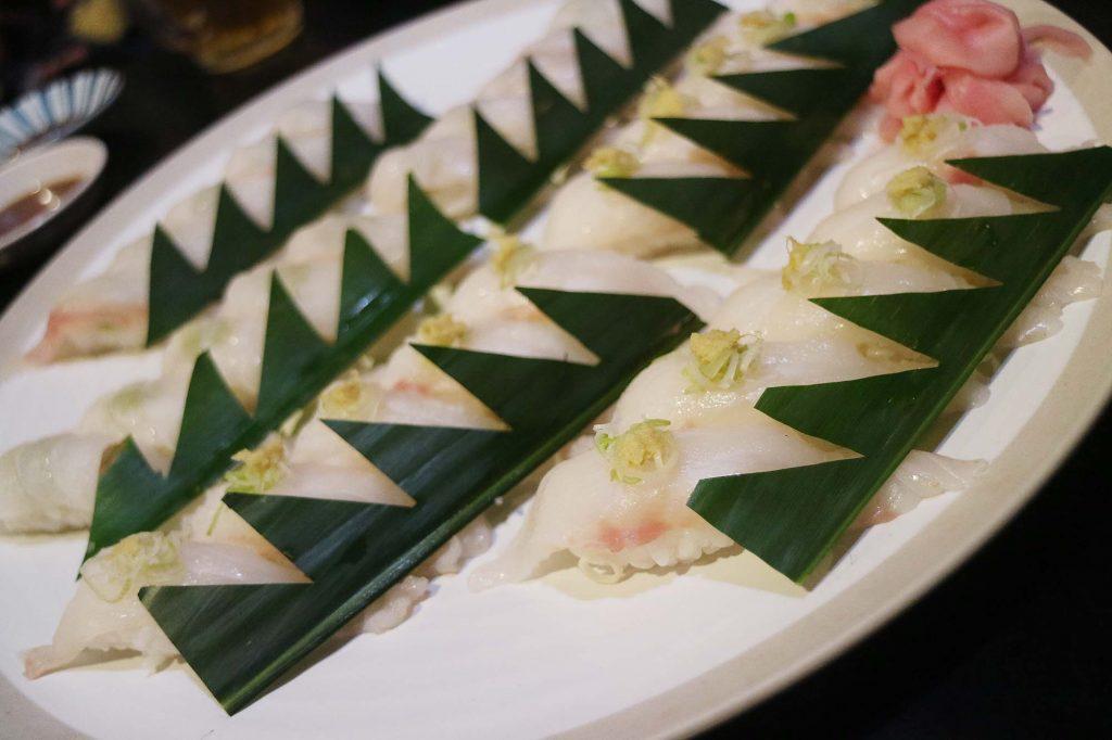サヌール クエの握り寿司