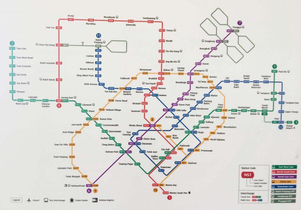 シンガポール 路線図