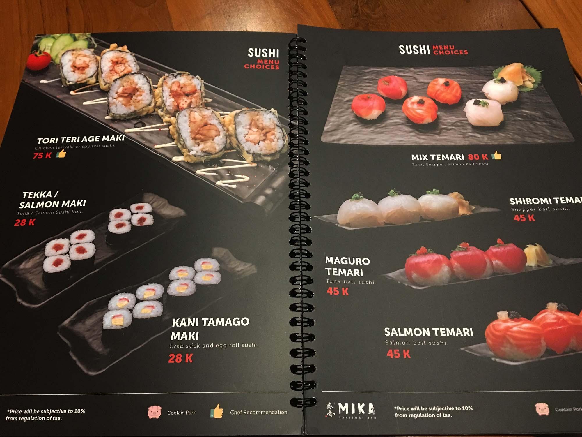 バリ島の寿司