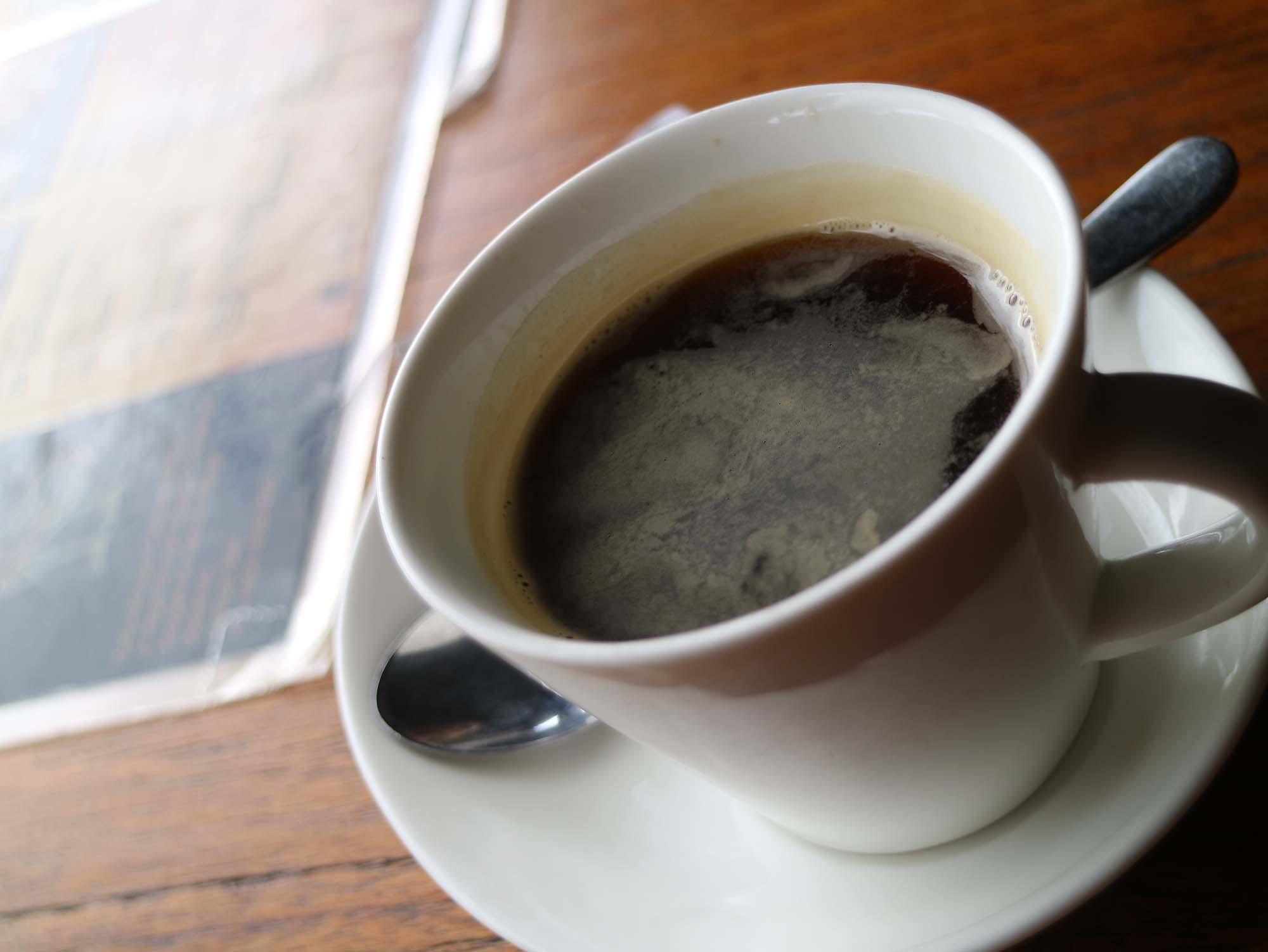 ウブドでブラックコーヒー